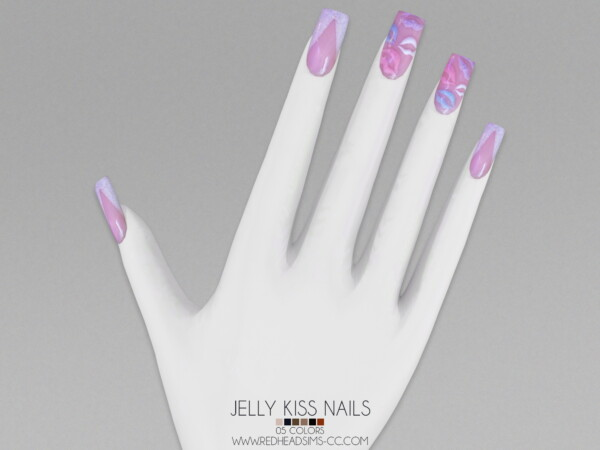 Jelly Kiss Nails from Red Head Sims