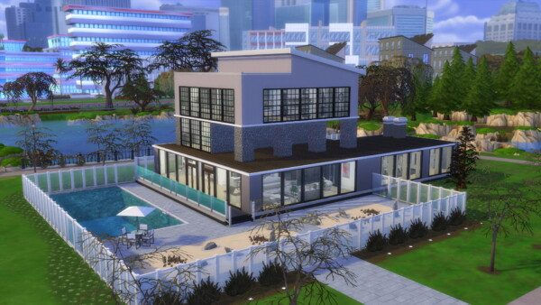 Glorias Modern Mansion NO CC by Keallow 075 from Mod The Sims