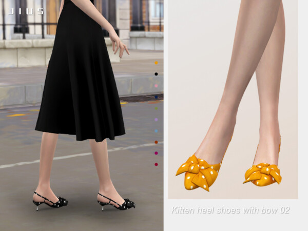 Kitten heel shoes with bow 02 by Jius from TSR