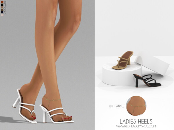 Ladies Heels With Anklet from Red Head Sims