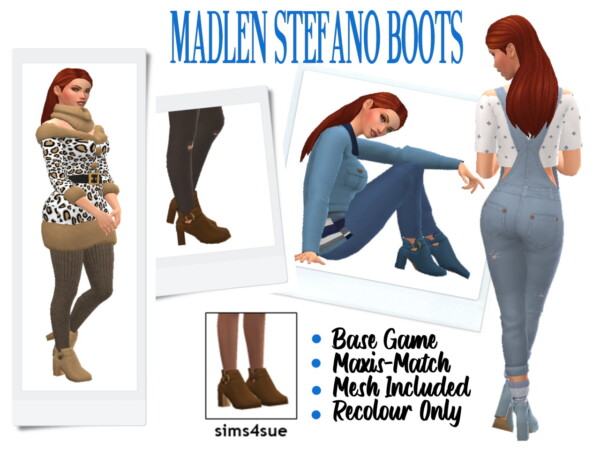 Madlen's Stefano Boots Recolored from Sims 4 Sue