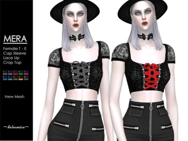 Mera Goth Top by Helsoseira from TSR