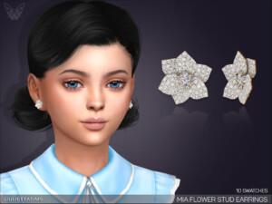 Mia Flower Stud Earrings