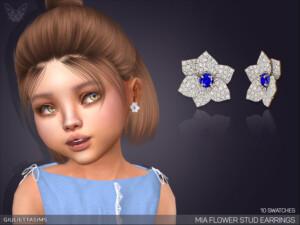 Mia Flower Stud Earrings For Toddlers