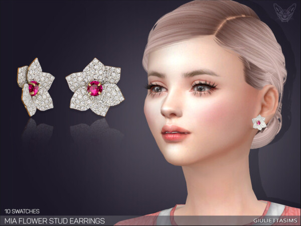 Mia Flower Stud Earrings  by feyona from TSR