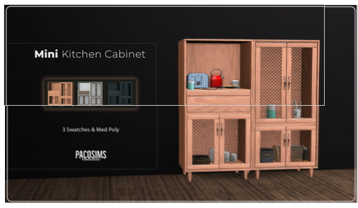 Mini Kitchen Cabinet from Paco Sims