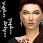 NataliS Diamond cluster drop earrings