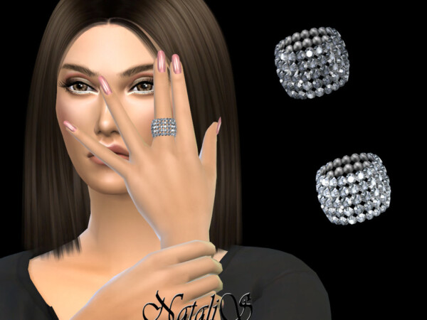 Extra wide crystal ring by NataliS from TSR