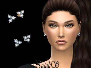 NataliS Triple diamond cluster stud
