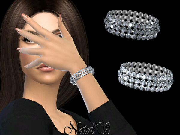 Wide crystal bracelet by NataliS from TSR