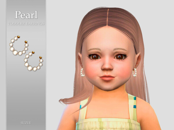Pearl Toddler Earrings by Suzue from TSR