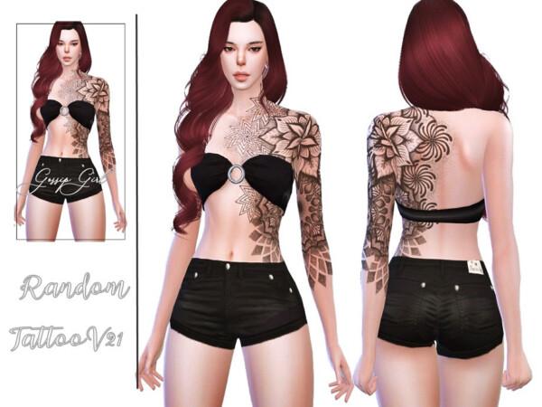 Random Tattoo V21 by GossipGirl S4 from TSR