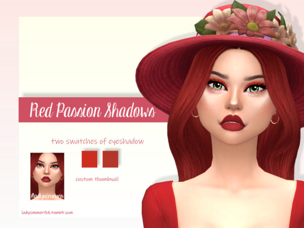 Red Passion Shadows  by LadySimmer94 from TSR