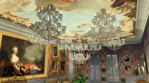Royal Crystal Chandelier Set
