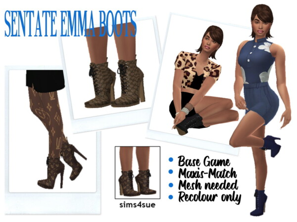 Sentate's Emma Boots from Sims 4 Sue