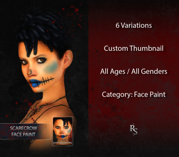 ScareCrow Face Paint from Revolution Sims