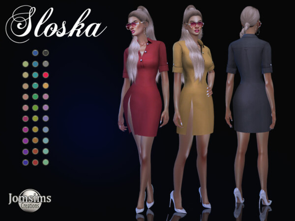 Sloska dress by jomsims from TSR
