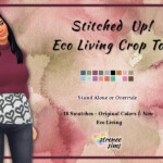 Stitched Up Crop Top
