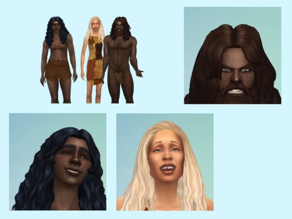 Stoneage The first ones from KyriaTs Sims 4 World