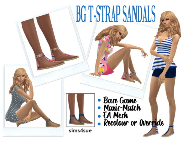 Strap Sandals from Sims 4 Sue