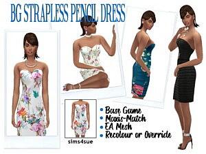 Strapless Pencil Dress