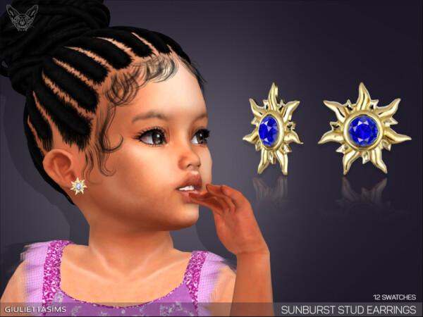 Sunburst Stud Earrings by feyona from TSR