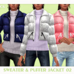Sweater and Puffer Jacket
