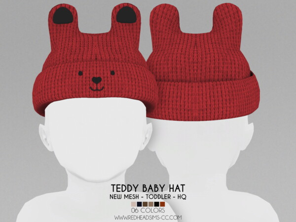 Toddler Teddy Baby Hat from Red Head Sims