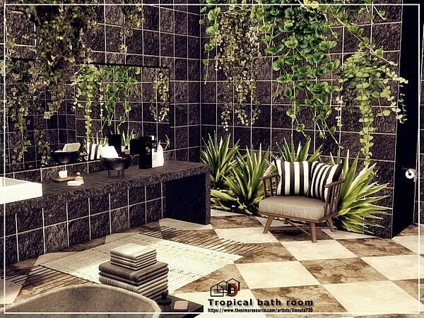 Tropical bathroom by Danuta720 from TSR