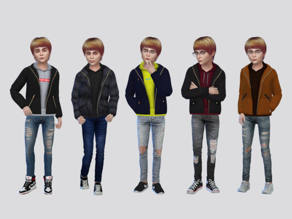 Von Layered Jacket Boys by McLayneSims from TSR