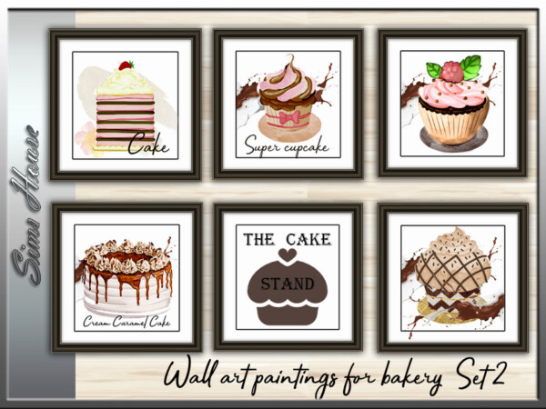 Wall Art Picture For Bakery Set 2 by Sims House from TSR
