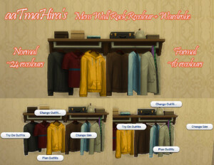 Wardrobe Mens Wall Racks