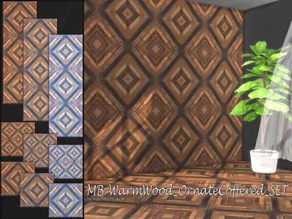 Warm Wood Ornate Coffered Set by matomibotaki from TSR