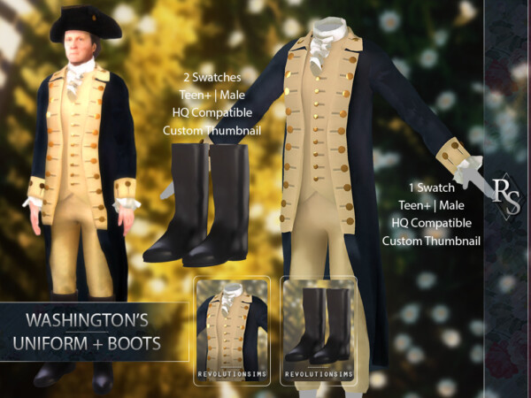 Washington`s Uniform and boots from Revolution Sims