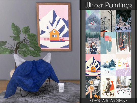 Winter Paintings from Descargas Sims