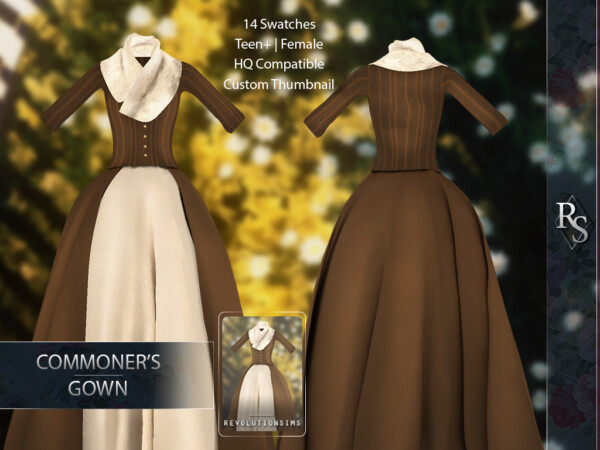 Simple gown from Revolution Sims