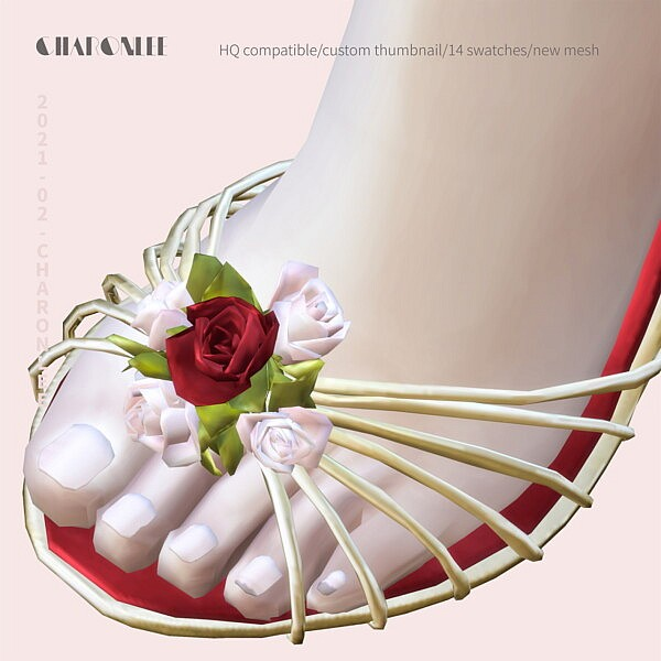 Birdcage And Flower Sandals from Charonlee