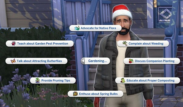 Gardening Social Interactions by Helaene from Mod The Sims