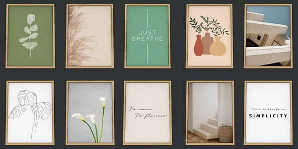 Minimalist Floor Prints from Sunkissedlilacs