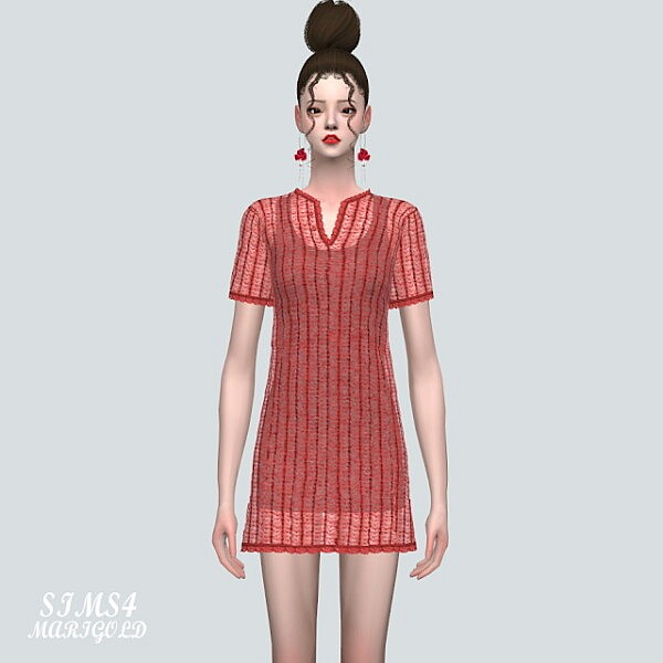 5 ST Knit Mini Dress from SIMS4 Marigold