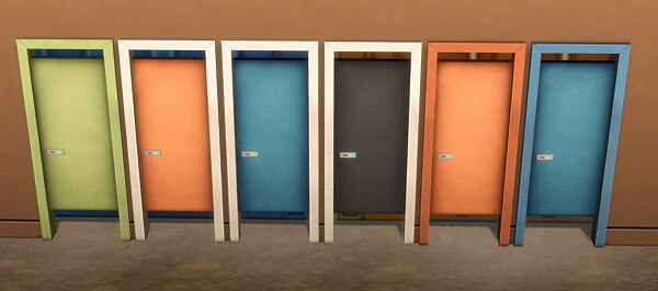 Simple Toilet Stall Door by BlueHorse from Mod The Sims