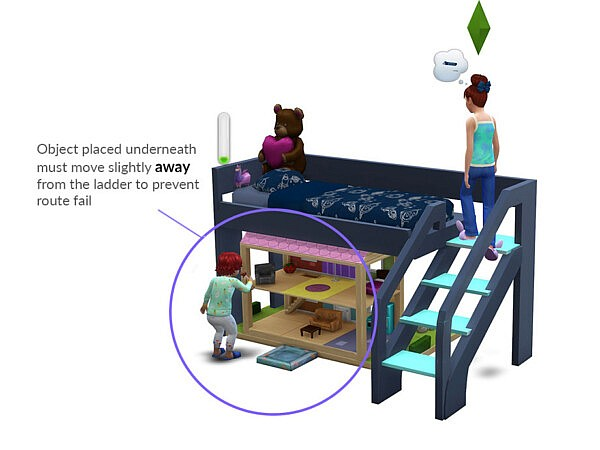 Functional Toddler Bunk Bed by PandaSamaCC from TSR
