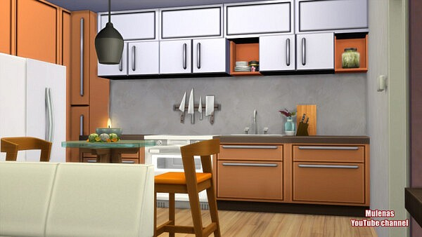 Modern apartment from Sims 3 by Mulena