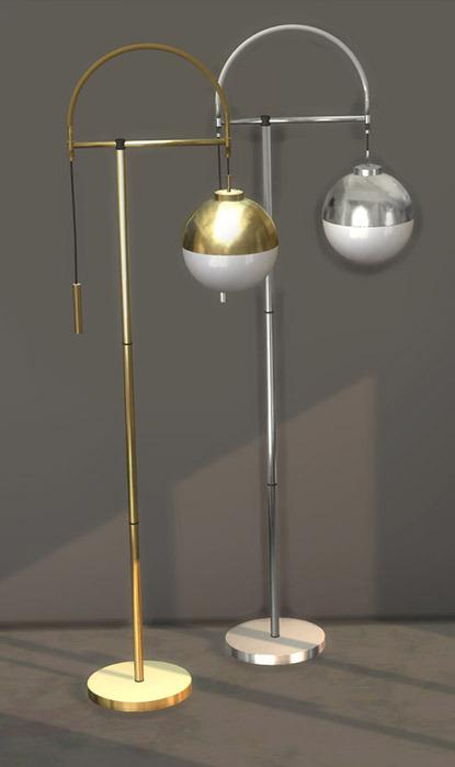 Arc Floor Lamp from Leo 4 Sims