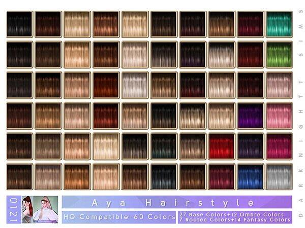 Aya Hair by DarkNighTt from TSR