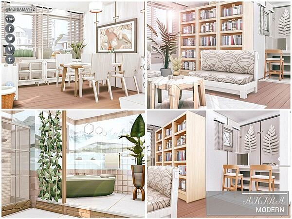 Akira Modern House by Moniamay72 from TSR