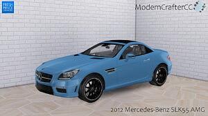 2012 Mercedes Benz SLK55 AMG sims 4 cc