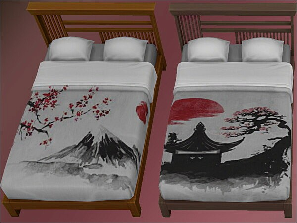 Tatami Japanese Double Bed by oumamea from Mod The Sims