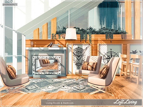 Loft Living Room and Bedroom by Moniamay72 from TSR