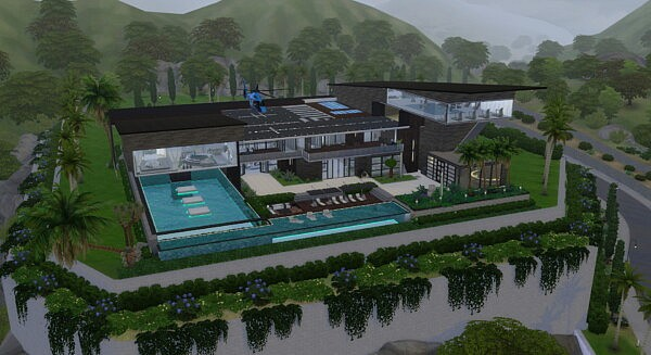 Luxury Villa of the Brothers by  Solene Espana from Luniversims